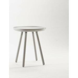 Šedý odkládací stolek z masivu EMKO Naïve Small, ø45cm
