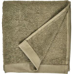 Olivově zelený ručník z froté bavlny Södahl Organic, 100 x 50 cm