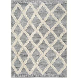 Bílo-šedý koberec Universal Cheroky Geo, 115 x 170 cm