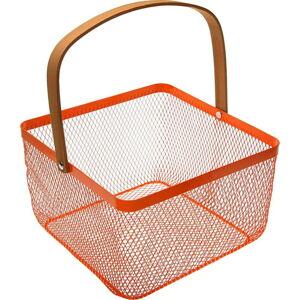 Oranžový košík s uchem Versa Maroda