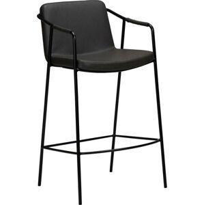 Šedá barová židle v imitaci kůže DAN-FORM Denmark Boto