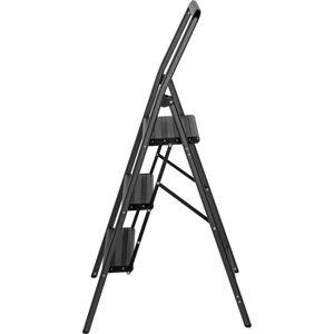 Šedé schůdky Wenko Compact, výška 114,5 cm