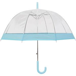 Transparentní holový deštník sautomatickým otevíráním Ambiance Pastel Blue, ⌀85cm