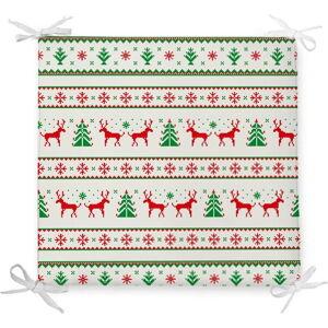 Vánoční podsedák s příměsí bavlny Minimalist Cushion Covers Traditions,42x42cm