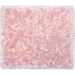 Růžový koberec z ovčí kožešiny Royal Dream Zealand Sheep, 130x150cm