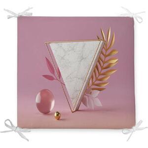 Podsedák s příměsí bavlny Minimalist Cushion Covers Marble Triangle,42x42cm