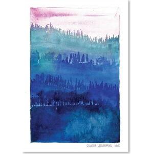 Plakát Americanflat Pink Wood by Claudia Libenberg,30x42cm