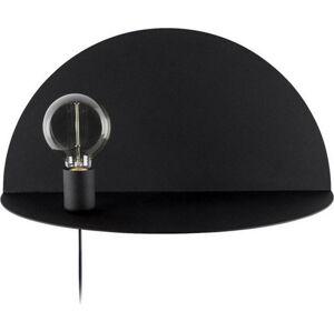 Černé nástěnné svítidlo s poličkou Homemania Decor Shelfie