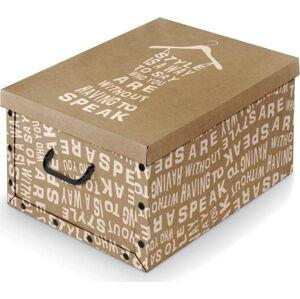 Krabice s bílými detaily a úchyty Domopak