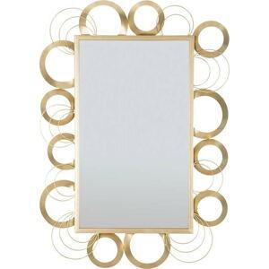 Nástěnné zrcadlo v železném rámu Mauro Ferretti Globe, 76,5 x 108 cm