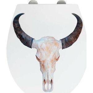 WC sedátko se snadným zavíráním Wenko Easy Wild West, 44,5 x 37 cm