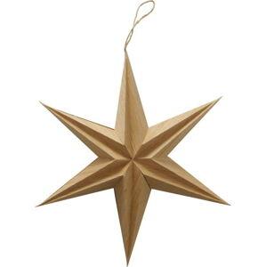 Vánoční papírová závěsná dekorace ve tvaru hvězdy Boltze Kassia, ø 30 cm