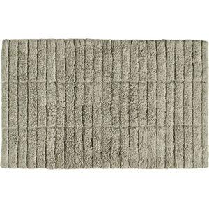 Zelenobéžová bavlněná koupelnová předložka Zone Tiles,80x50cm