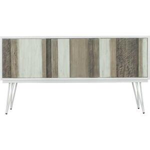 Hnědo-bílý TV stolek sømcasa Niza, šířka 155 cm