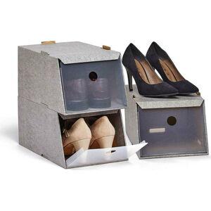 Sada 3 úložných boxů na boty Domopak