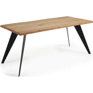 Jídelní stůl s hnědou deskou La Forma Nack, 180 x 100 cm