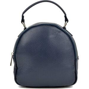 Modrý kožený batoh Isabella Rhea, 19 x 10 cm