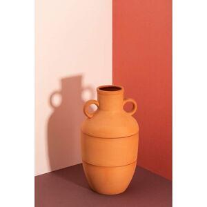 Hnědá keramická váza DOIY Terracotta, výška 27 cm
