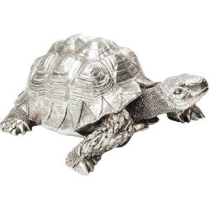 Dekorativní soška vestříbrné barvě Kare Design Turtle