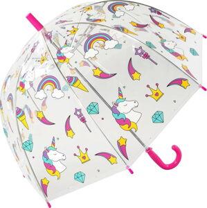 Transparentní dětský deštník odolný vůči větru Ambiance Unicorn, ⌀72cm