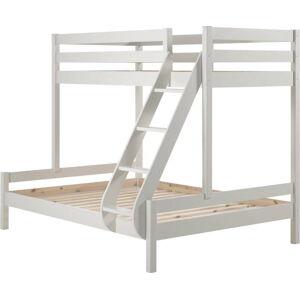 Bílá rodinná postel se 2 lůžky Vipack Pino Martin