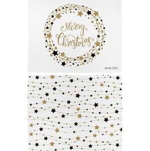 Vánoční prostírání z bavlny Butter Kings Stars Wreath,45x35cm