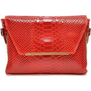 Červená kožená kabelka Luisa Vannini
