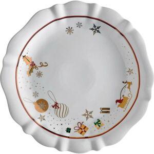 Bílý porcelánový talíř s vánočním motivem Brandani Alleluia, ⌀ 30 cm