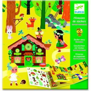 Set knihy s přemístitelnými samolepkami Djeco Forest Sticker Story
