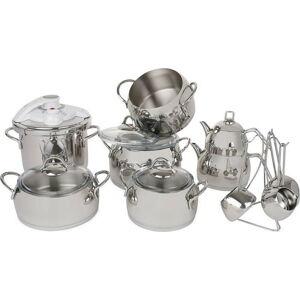 Set 18 kuchyňského nádobí z oceli Tony