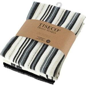 Sada 5 černých bavlněných utěrek Tiseco Home Studio , 50 x 70 cm