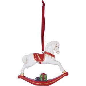 Bílá závěsná dekorace Ego Dekor Rocking Horse