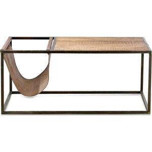 Konferenční stolek z mangového dřeva a kůže Nkuku Alera