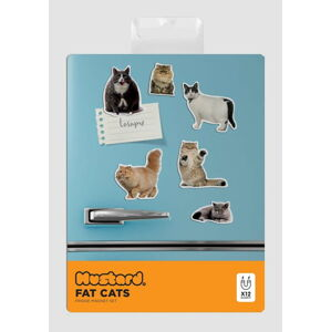 Sada 5 magnetek Just Mustard Fat Cat