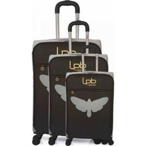 Sada 3 černých skořepinových zavazadel na 4 kolečkách LPB Clara