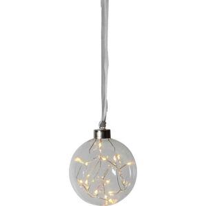 Transparentní LED světelná dekorace Best Season Glow, ø 10 cm