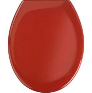 Červené WC sedátko se snadným zavíráním Wenko Premium Ottana, 44,5 x 37,5 cm