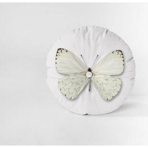 Sametový polštář Velvet Atelier Butterfly, ⌀ 45 cm