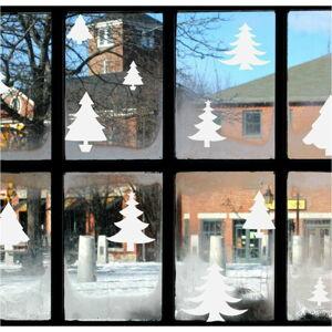 Elektrostatická vánoční samolepka Ambiance Bright White Christmas Trees