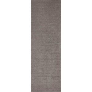 Tmavě šedý běhoun Mint Rugs Supersoft, 80 x 250 cm