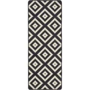 Černý kuchyňský běhoun HanseHomeLoopDiamond, 67x180cm