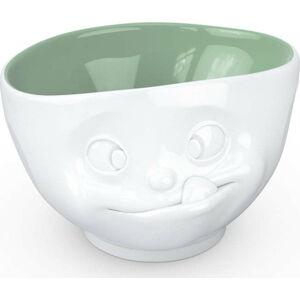 Bílo-zelená porcelánová mlsná miska 58products