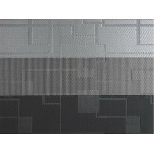 Šedé plastové prostírání Tiseco Home Studio Chiné Stripe, 30x45cm