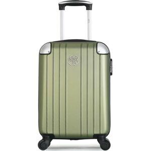 Světle zelené skořepinové zavazadlo na 4 kolečkách LPB Amelie, 31l
