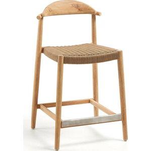 Barová stolička z eukalyptového dřeva La Forma Glynis
