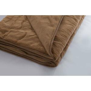 Tmavě hnědá deka z merino vlny Royal Dream Quilt,220x200cm