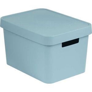 Šedý úložný box CURVER Simpla