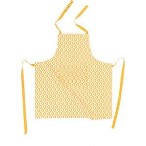 Žlutá bavlněná zástěra Tiseco Home Studio Hexagon