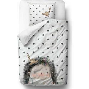 Bavlněné dětské povlečení Mr. Little Fox Hedgehog Boy, 100 x 130 cm