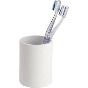 Bílý kelímek na zubní kartáčky Wenko Inca